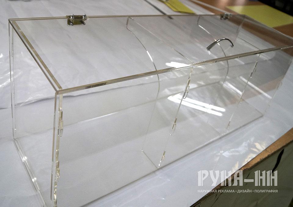 005 - Витрина - хлебница, оргстекло, лазерная резка, мебельная фурнитура
