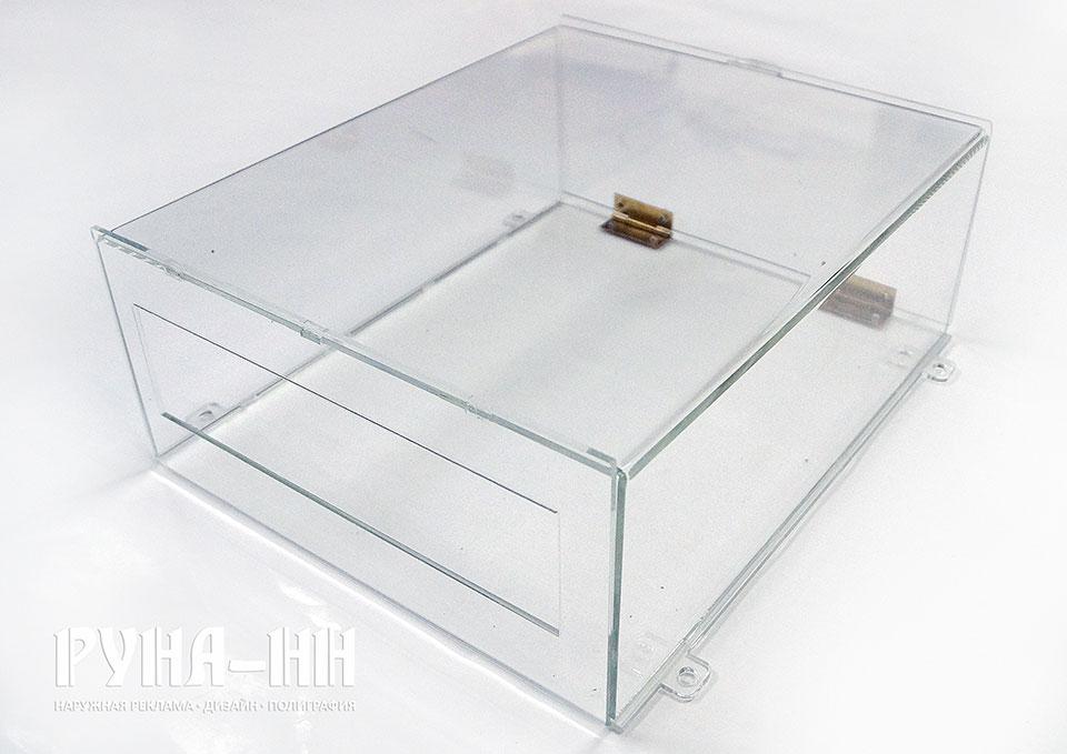 023 - Подвесной короб из оргстекла. Ящик для документов, прозрачный