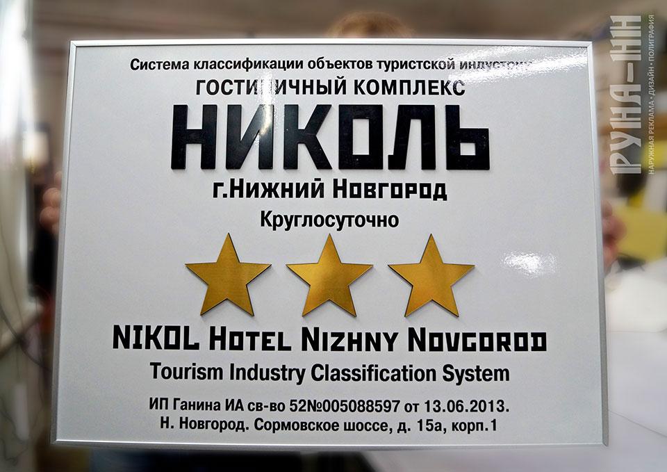 025 - Композит с объемными буквами, обкладка нельсон