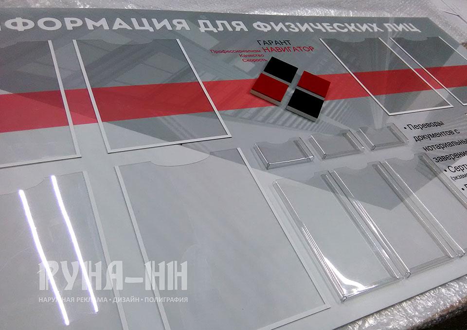 060 - Стенд с объемными карманами и объемным элементом