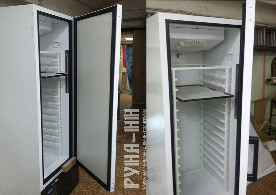 229 - Стеллаж в холодильник для пекарни и переделка двери для увеличения обьема