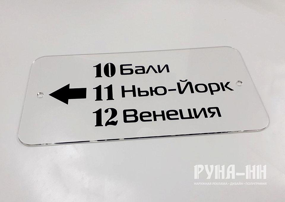 211 - Табличка с закругленными углами из оргстекла, лазерная резка