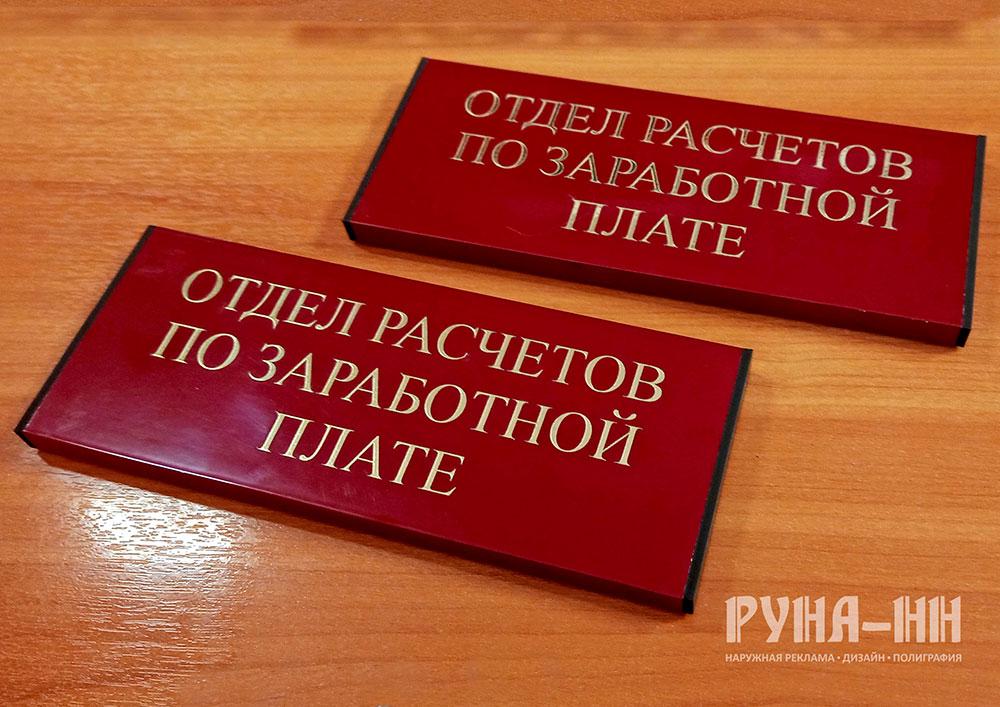 235 - Изготовление заглушек для дверных табличек
